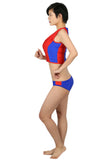 Xcoser Baywatch Summer Quinn Costume Lycra Fabric Orange Swimwear