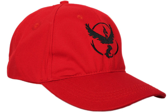 Pokemon GO Moltres Red Baseball Cap Embroidered Peaked Cap Unisex Sunhat