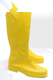 The Flash Cosplay Boots Yellow PU Boots with Flash Logo