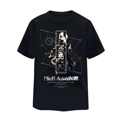 NieR Automata 2B T-shirt Black Cotton T-shirt Digital Printing T-shirt