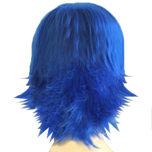 Juvia Lockser Wig Fairy Tail Juvia Cosplay Short Blue Warping Wig Costume Accessories - Xcoser Costume