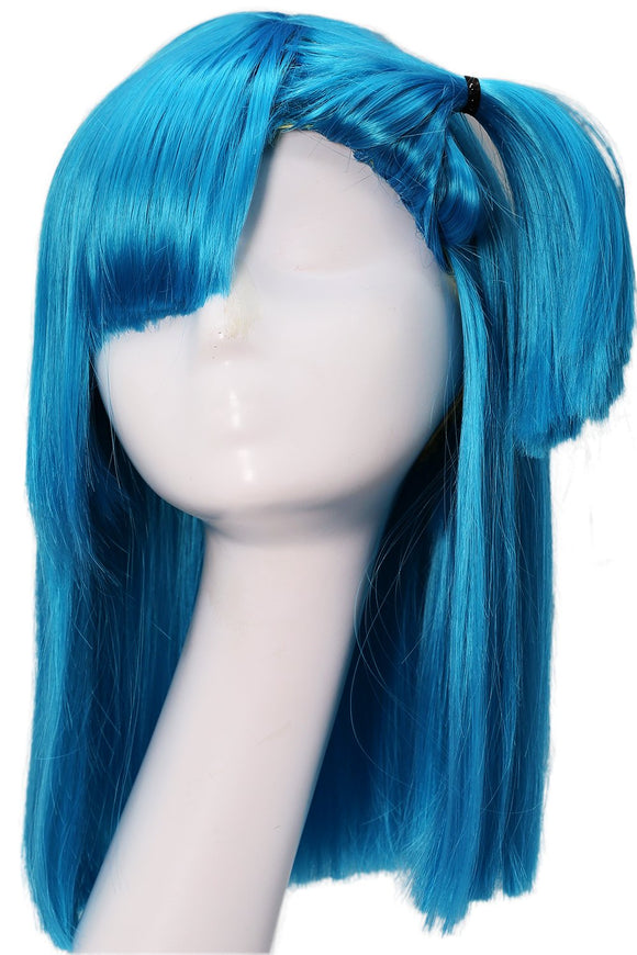 Xcoser Bulma Wig Dragon Ball Z Cosplay Costume Accessories Pre-styled Wig Hair