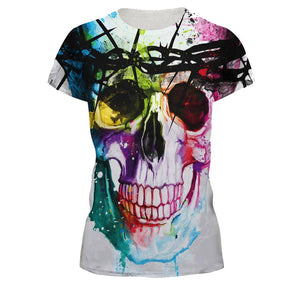 Unisex Suicide Squad Joker Colored Drawing Style T-shirt Short Sleeve Printing T-shirt Joker Cosplay Costume