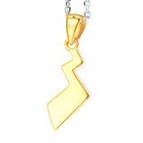 Pokemon Pikachu Golden / Silver Necklace pendant Wax ends / silver chain Anime Cosplay Props Accessories