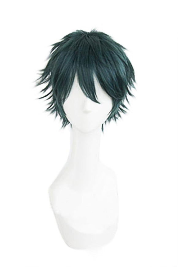 Masamune Makabe Wig Short Deep Green Synthetic Hair Masamune-kun's Revenge Cosplay Accessory