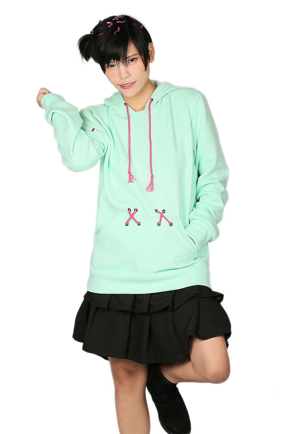 Xcoser Wreck-It Ralph Vanellope Costume Hoodie Solid Color Hooded Pullover for Women