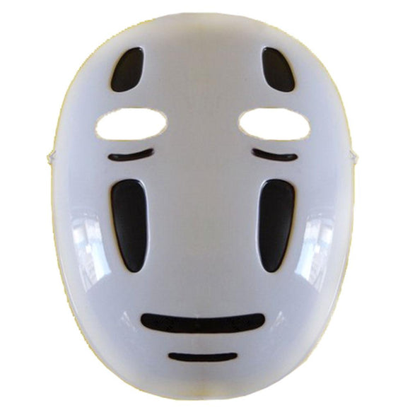 No Face Mask Spirited Away Cosplay No Face Costume Accessories PVC Half Face Halloween Mask Black/Purple