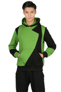 Xcoser Shego Hoodie Splicing Cotton Hooded Pullover Kim Possible Cosplay Costume