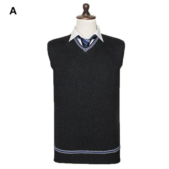 Harry Potter V-neck Sweater Knitted Waistcoat Cosplay Costume For Adults - Xcoser Costume