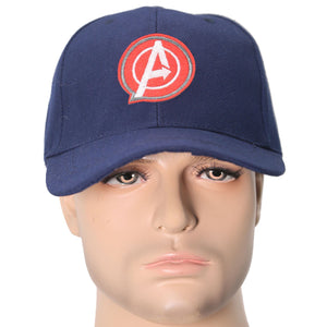 Captain America Hat Adults Dark Blue Adjustable Baseball Cap Cosplay Costume Accessories