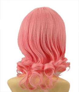 Aries Wig Fairy Tail Aries Cosplay Synthetic Pink Short Curly Party Wig - Xcoser Costume