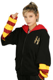 Xcoser Harry Potter Gryffindor Cosplay Costume Black Zipper Hoodie in Embroidered Style