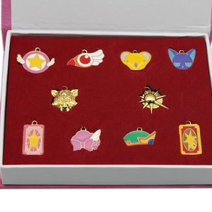 XCOSER Cardcaptor Sakura Kero necklace keychain pendant +chain with box 10pcs For Cosplay