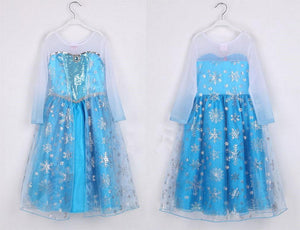 Elsa Costume Frozen Elsa Dress for Kids High Quality Cosplay Costume - Xcoser Costume