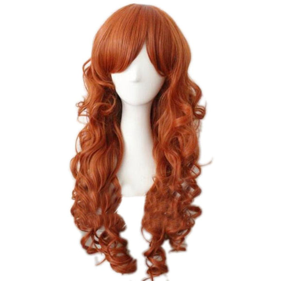 Batman Batgirl Wig Orange Long Curly Wig High Temperature Silk Wig - Xcoser Costume