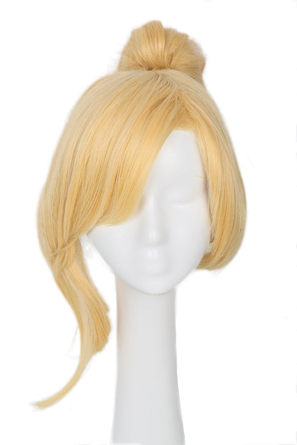 Xcoser Overwatch Mercy Wig Blonde Straight Ponytail Hair for Cosplay and Halloween Party