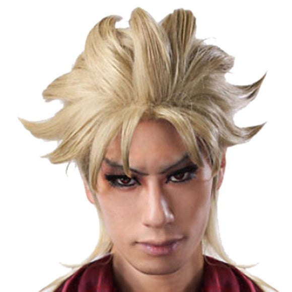Dio Brando Wig Short Light Golden Cosplay Anime Wig 45cm JOJO's Bizarre Adventure Cosplay - Xcoser Costume