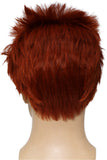 Riddler Wig Batman Cosplay Costume Cool Wine Red Short Hair Accessories