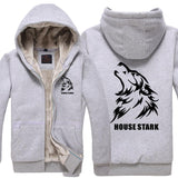 Game of Thrones House Stark Hoodie Thicken Winter Hoodie Costume For Men - Xcoser Costume