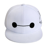 Baymax Hat Big Hero 6 Baymax Cosplay White Snapback Basketball Cap - Xcoser Costume