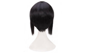 Ghost in the Shell Motoko Kusanagi Wig Black High Temperature Silk Wig Cosplay Accessory - Xcoser Costume