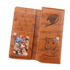 Fairy Tail Wallet Long Brown Wallet with Fairy Tail Logo for Men - Xcoser Costume