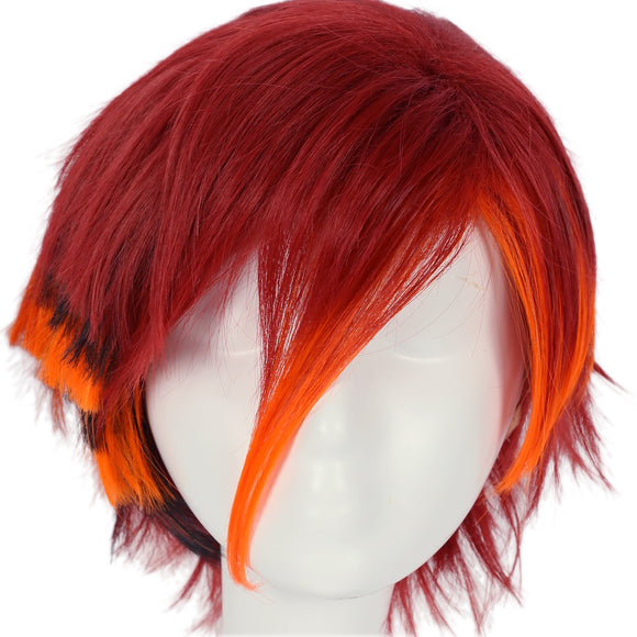 Xcoser Monster High Toralei Stripe Cosplay Wig Claret-red Short Straight Wig Cosplay Props