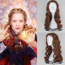 Alice Through the Looking Glass Cospplay Long Wave Brown Costume Wig - Xcoser Costume