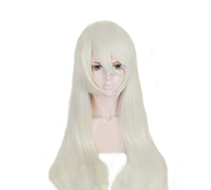 NieR:Automata 2A Wig White Waist-deep High Temperature Silk Cosplay Wig