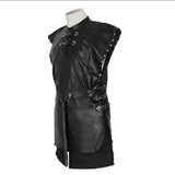 Jon Snow Costume Game of Thrones Cosplay PU Black Adult Cloak Costume Outfit Custom Made - Xcoser Costume