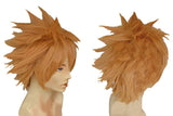 Fairy Tail Leo Cosplay Orange Short Straight Synthetic Anime Wig - Xcoser Costume