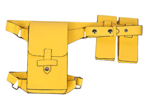 Batman Batgirl Belt Yellow PU Leather Belt & Holster - Xcoser Costume
