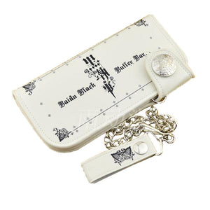 Fashion Black Butler Wallet Good Quality PU Long Purse Wallet - Xcoser Costume