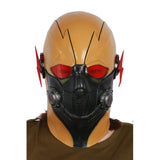 XCOSER Crisis on Earth-X Cosplay Dark Flash Yellow & Black Latex Full Head Helmet Dark Flash Cosplay Halloween Mask