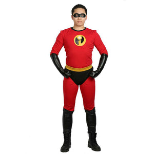 Halloween Cosplay XCOSER The Incredibles 2 Cosplay Mr. Incredible Full Body Elastic Uniform & Costume