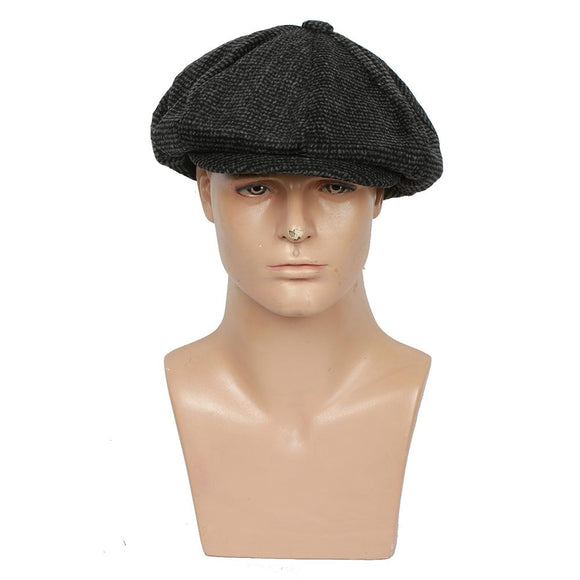 Xcoser Peaky Blinders season 4 Cosplay Tommy Shelby Dark Grey Beret Hat