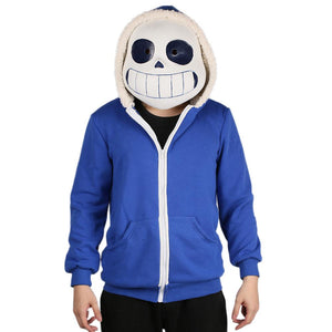 Winter Sans Unisex Hoodie Woolen Sweatshirt Coat Undertale Sans Cosplay Costume