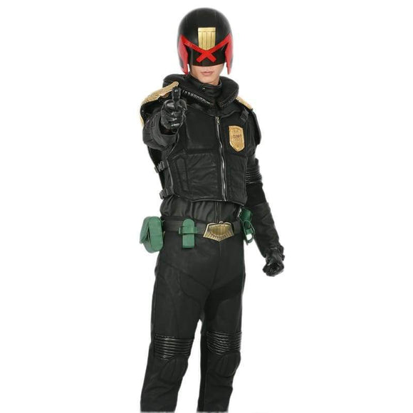Judge Dredd Costume Black Pu Suit Cosplay - Costumes 2