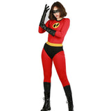 Halloween Cosplay XCOSER The Incredibles 2 Cosplay Elastigirl Fullbody Suit Costume