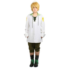 XCOSER The Seven Deadly Sins Anime Cosplay Meliodas Full Set White & Atrovirens Cotton Costume