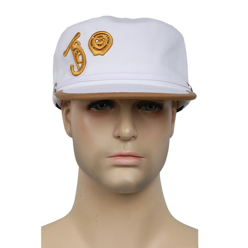 XCOSER JoJo's Bizarre Adventure: Diamond Is Unbreakable Movie Cosplay Kujou Jotarou White Cotton Hat
