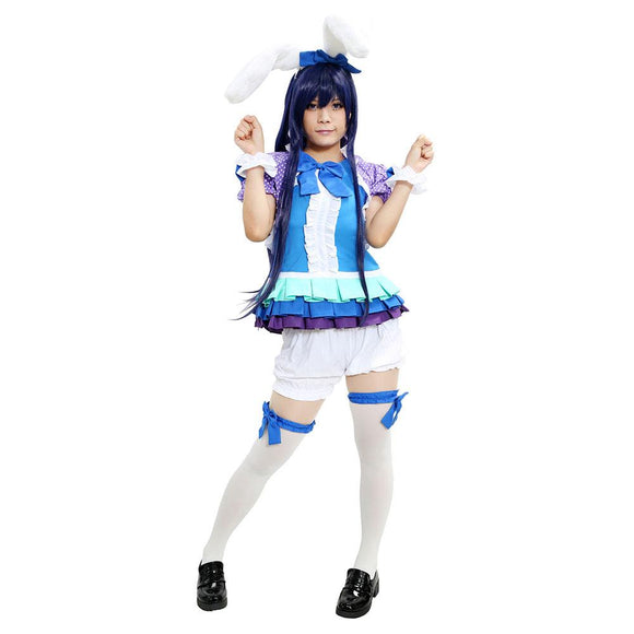 Umi Sonoda Costume Love Live Umi Sonoda Cosplay Outfit Cute Rabbit Suit Costume