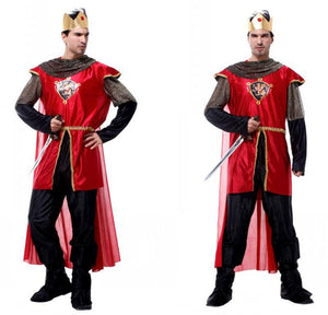 2017 Free ship Adult Party Cosplay Costumes King of Rome Halloween Costumes for Men Medieval Warrior Carnival Costumes