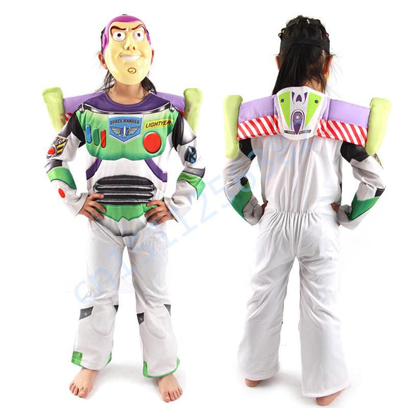 Children Clothes Toys Story Cosplay Costume for Kids Tim Allen Clothes Halloween costume for kids Party Dress with mask Hot Sale