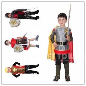 2017 Hot sale Roman knight cosplay costume for boy Kids halloween costumes children party cosplay costume M-XL