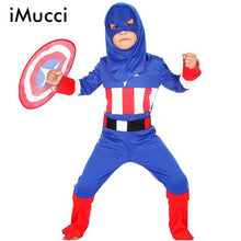 iMucci Super Quality Spiderman Halloween Costume Children Christmas Spider Man Cosplay Clild Party Captain America Costumes