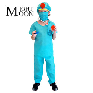 MOONIGHT Children Show The Surgeon Costume Doctor Boy Cosplay Clothing Occupation Cospaly