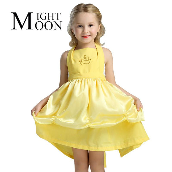 MOONIGHT Belle Princess New Year Kids Girl Beauty And Beast Cosplay Dress Apron Carnival Costume Christmas Halloween Costumes