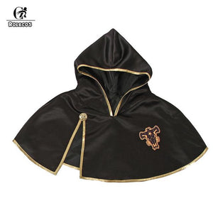 ROLECOS Black Clover Anime Cosplay Costume Asta Cloak Black Bull Cloak Finral Roulacase Cosplay Costume