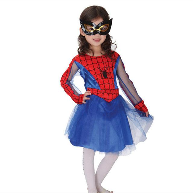 Spider Girl Costumes Children Spiderman Cosplay Costume for Kids  Day New Year  Halloween Fancy Party